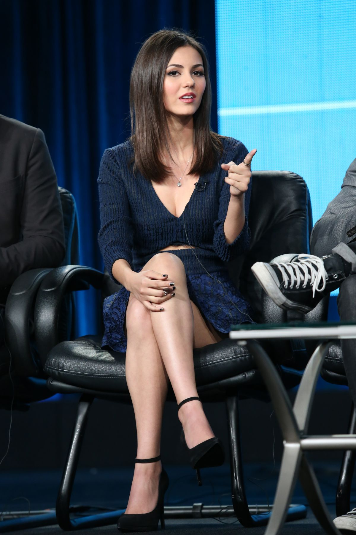 VICTORIA JUSTICE At Eye Candy Panel TCA Press Tour In Pasadena