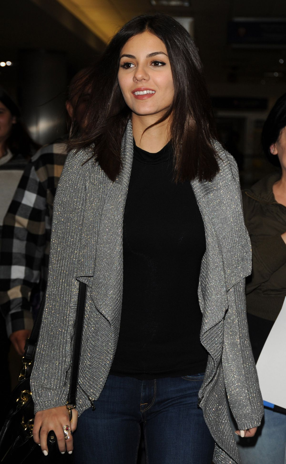 VICTORIA JUSTICE at LAX Airport in Los Angeles 1801