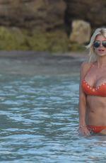 VICTORIA SILVSTEDT in Bikini on the Beach in St. Barths 0101