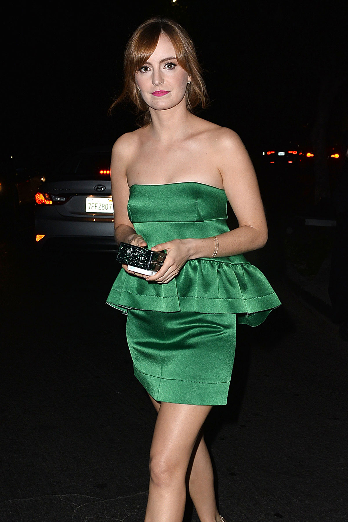 AHNA O'REILLY Leaves a Party at No Vacancy in Hollywood