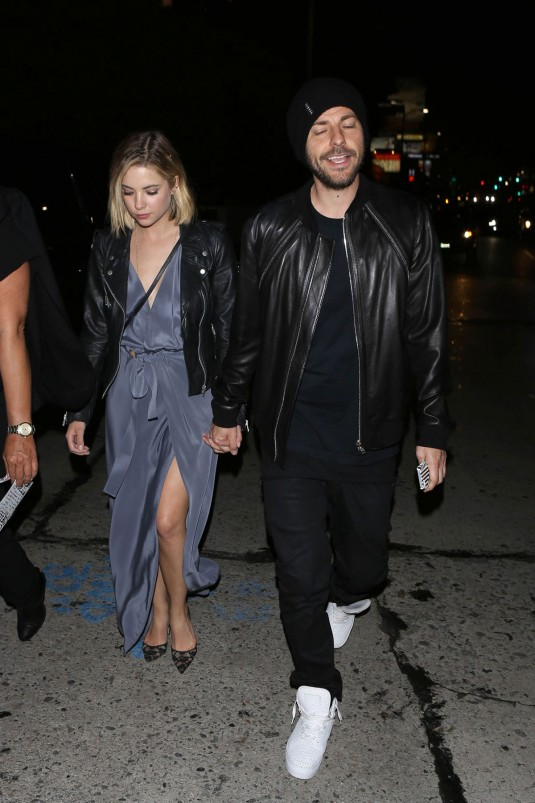 ASHLEY BENSON and Ryan Good Leaves a Grammy After Party