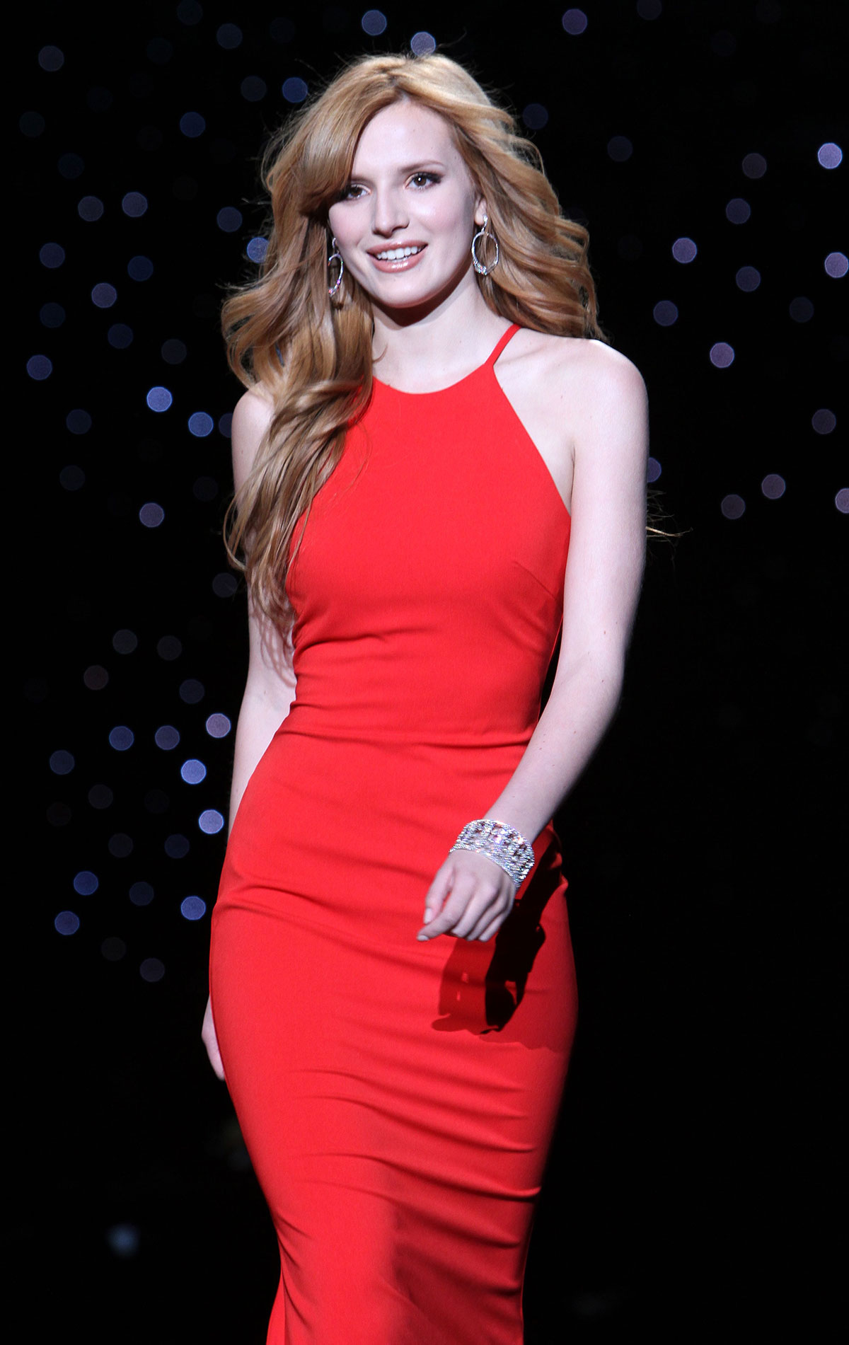 Bella Thorne At Go Red For Women The Heart Truth Red Dress