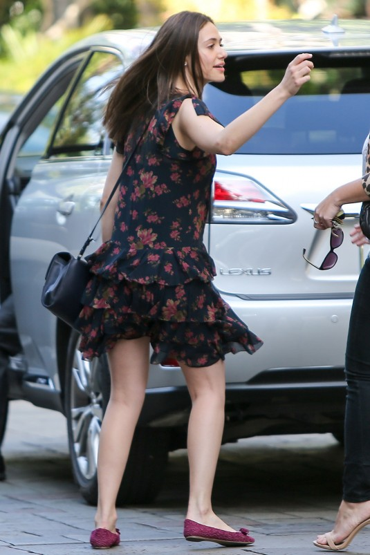 EMMY ROSSUM Out in Beverly Hill