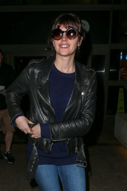 FELICITY JONES at LAX Airport