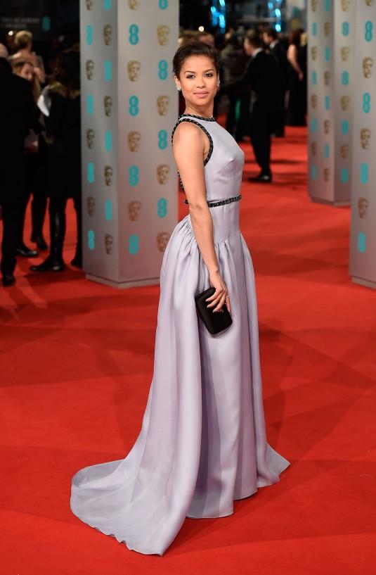 GUGU MBATHA at 2015 EE British Academy Film Awards in London