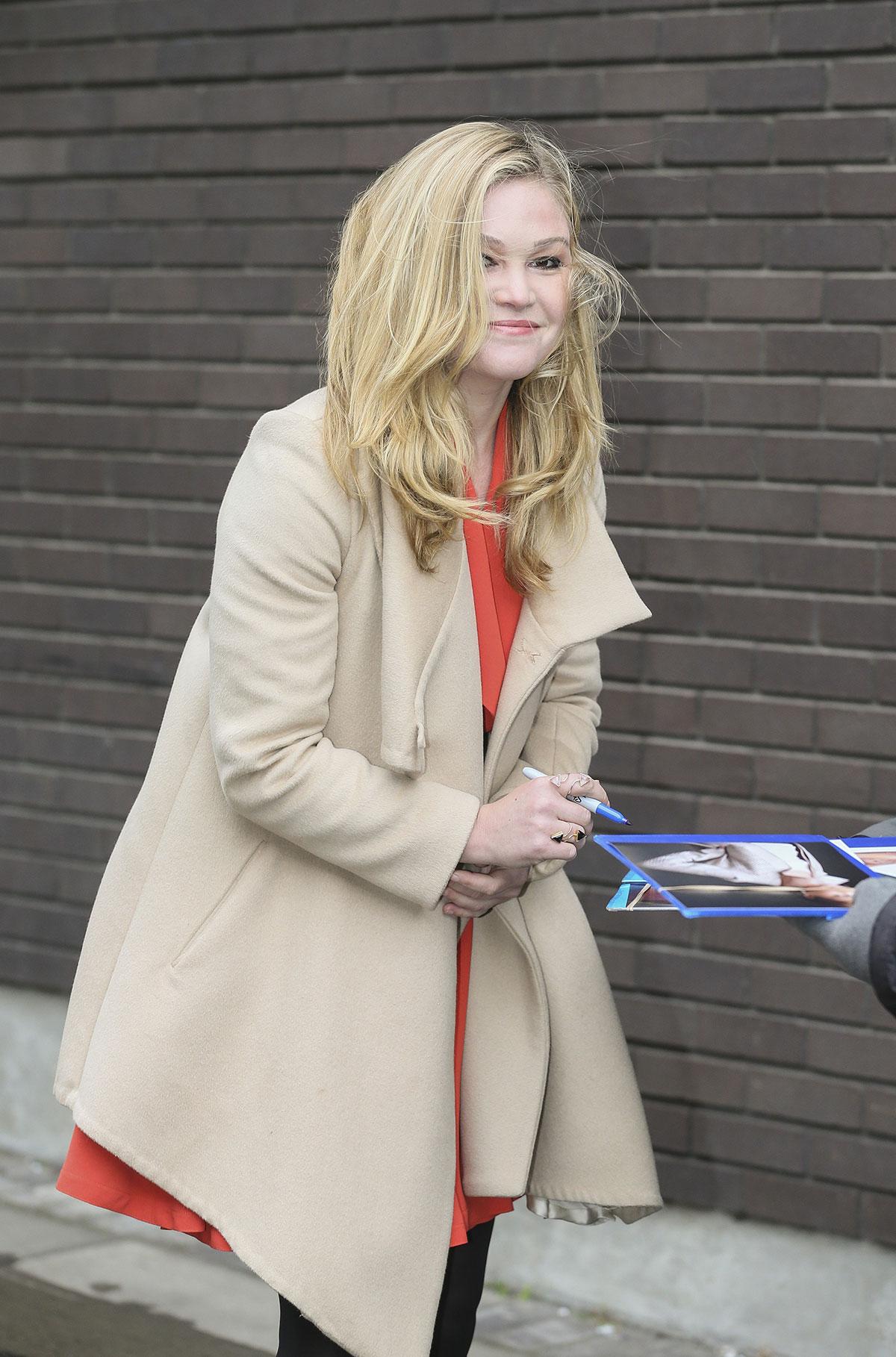 JULIA STILES Leaves ITV Studios in London - HawtCelebs Emmy Rossum
