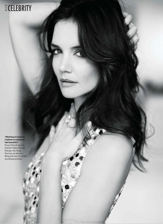 KATIE HOLMES in Elle Magazine