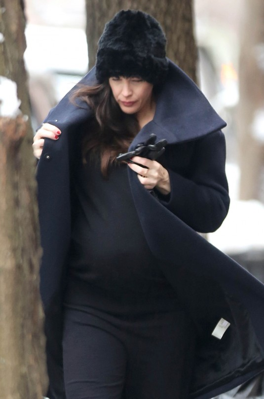 Pregnant LIV TYLER Out  in New York