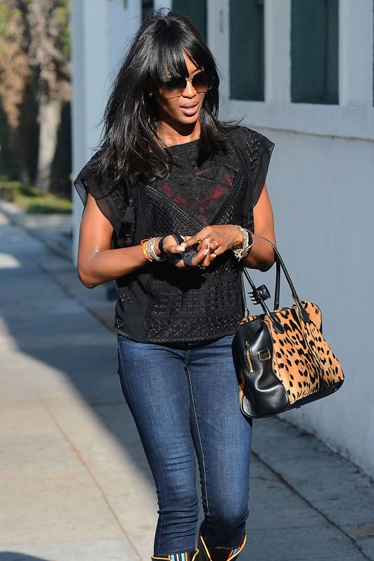 NAOMI CAMPBELL Out  in Beverly Hills