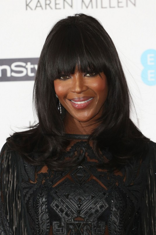 NAOMI CAMPBELL at Pre-bafta Instyle and EE Rising Star Bash in London