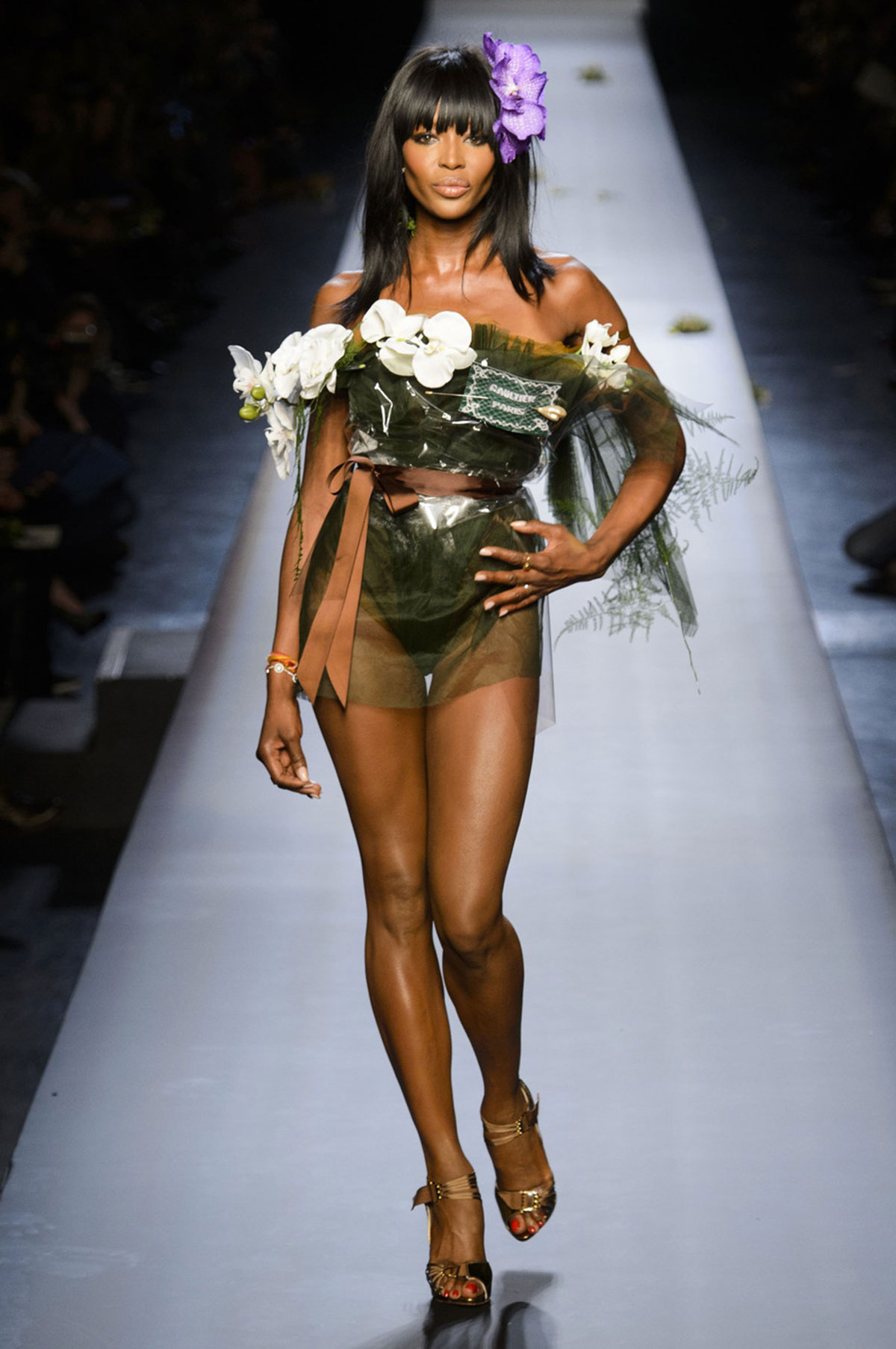 Naomi Campbell On The Runway Of Jean Paul Gaultier Fashion