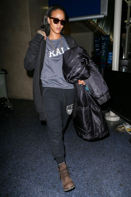 RIHANNA Arrives at JFK Airpor
