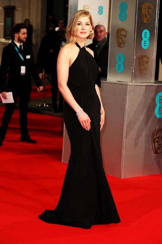 ROSAMUND PIKE at British Academy Film Awards