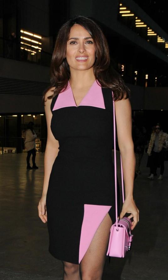 SALMA HAYEK at Christian Kane Fashion Show