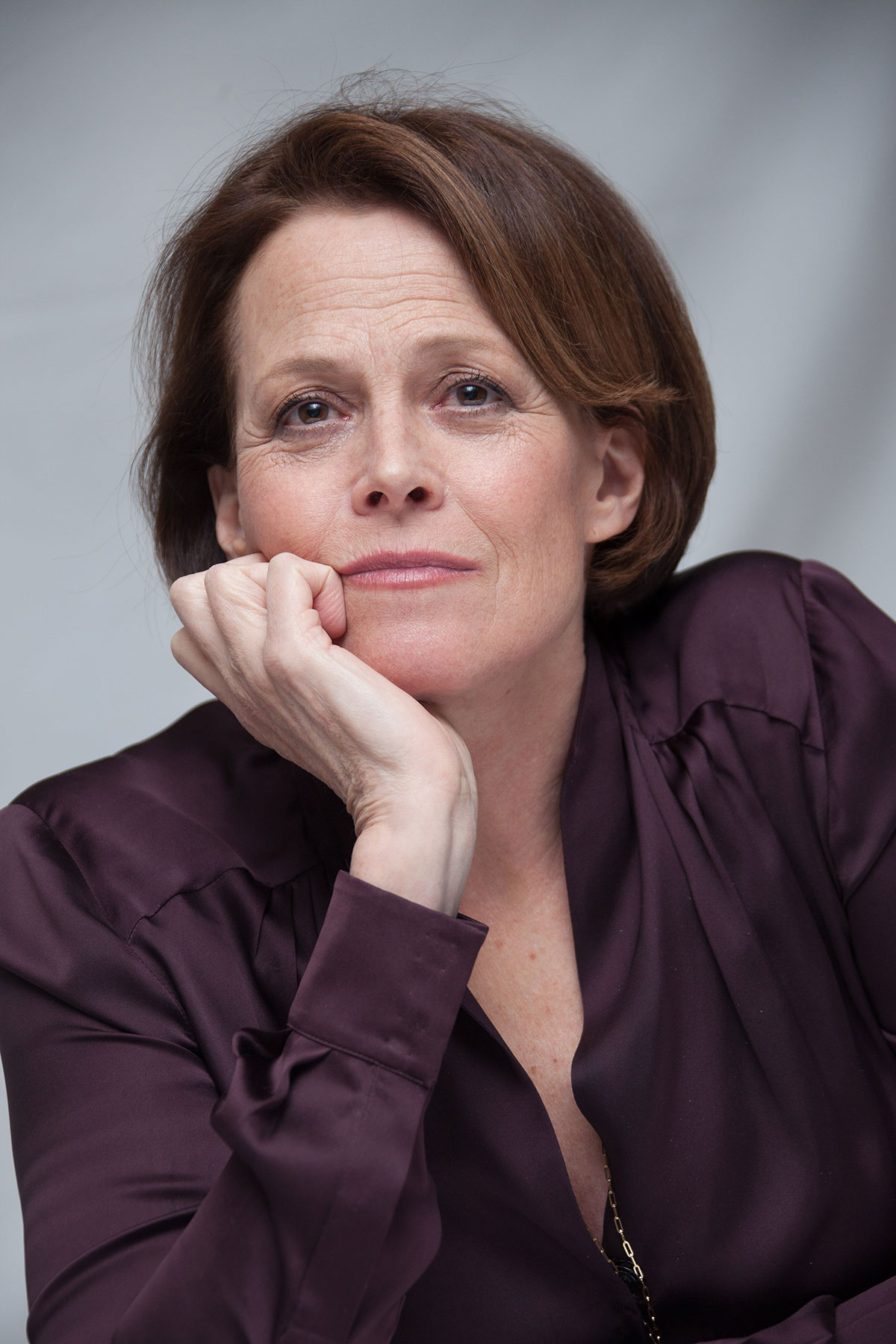 Sigourney Weaver Filmography And Biography On Movies Film: Chappie Press Conference Portraits By