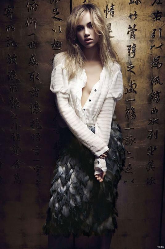 SUKI WATERHOUSE in Vogue Magazine