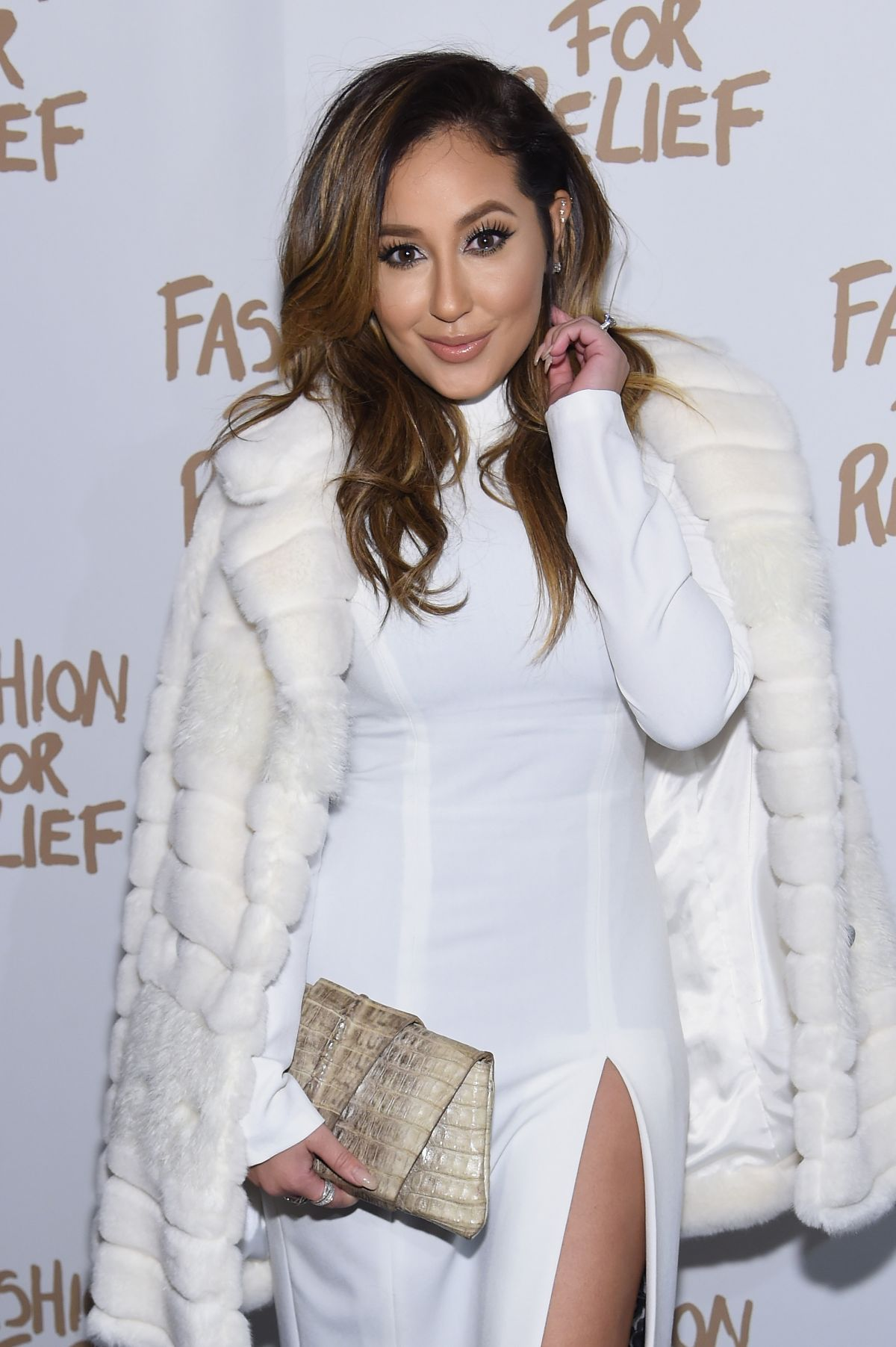 ADRIENNE BAILON at Naomi Campbell's Fashion for Relif Charity Fashion Show in New York