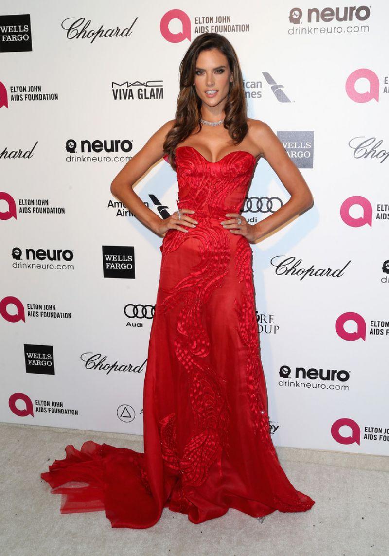 ALESSANDRA AMBROSIO at Elton John Aids Foundation's Oscar Viewing Party