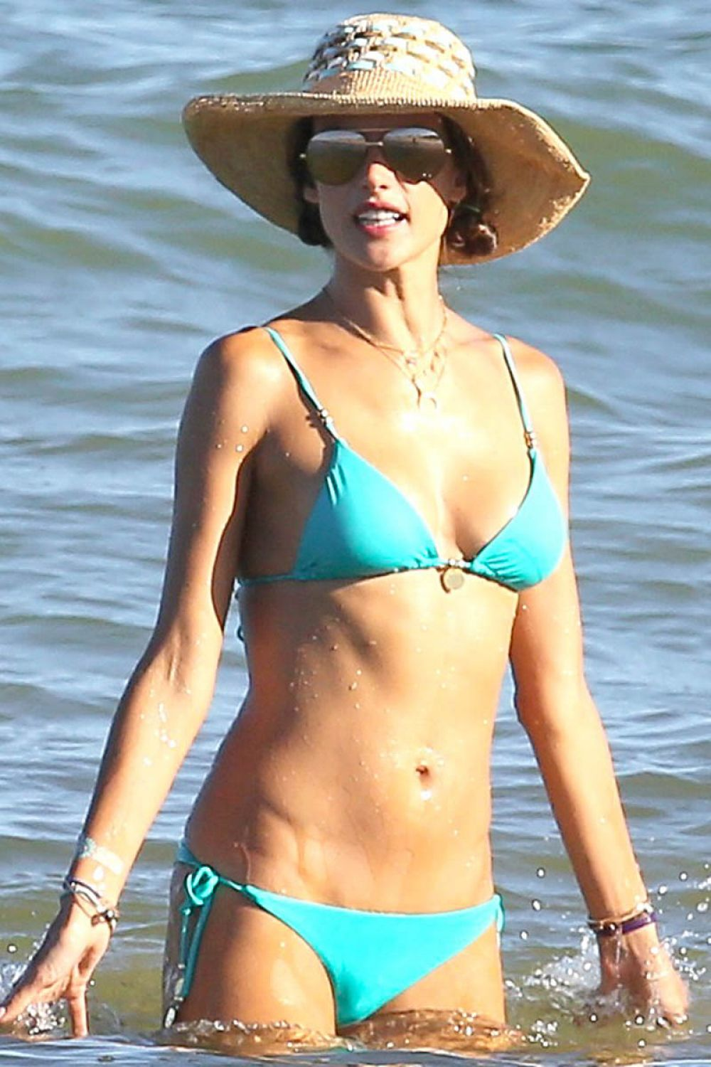 ALESSANDRA AMBROSIO in Bikini at a Beach in Bahia