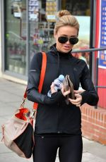ALEX GERRARD in Tights Out and About in Liverpool