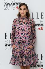 ALEXA CHUNG at Elle Style Awards in London