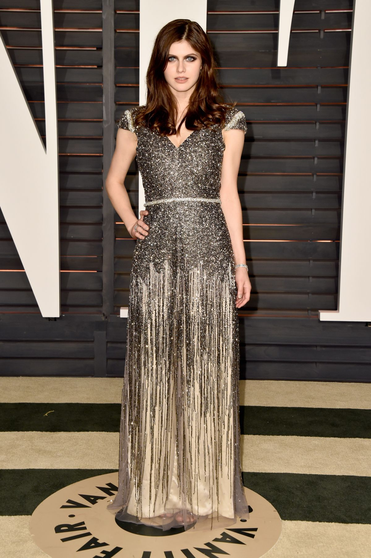 alexandra daddario at vanity fair oscar in