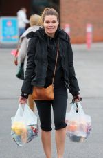 ALISON KING in Leggings Out Shopping in Cheshire