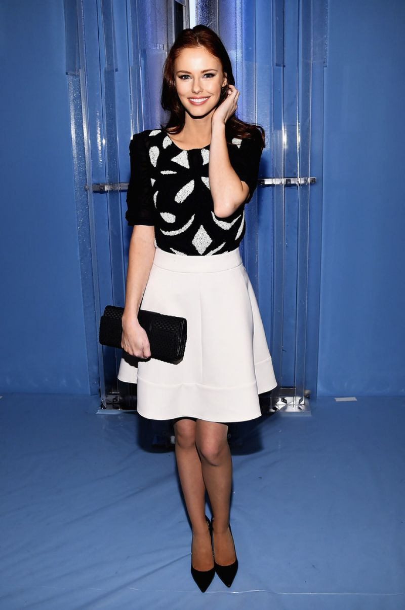 ALYSSA CAMPANELLA at Carolina Herrera Fashion Show in New York