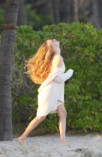 AMANDA SEYFRIED in Swimsuit on the Set of a Photoshoot in Miami