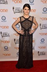 AMBER MONTANA at 2015 NAACP Image Awards in Pasadena
