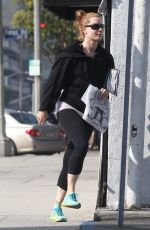 AMY ADAMS in Leggings Out and About in Los Angeles 0402