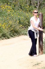 AMY SMART Out with Her Dog at a Park in Beverly Hills