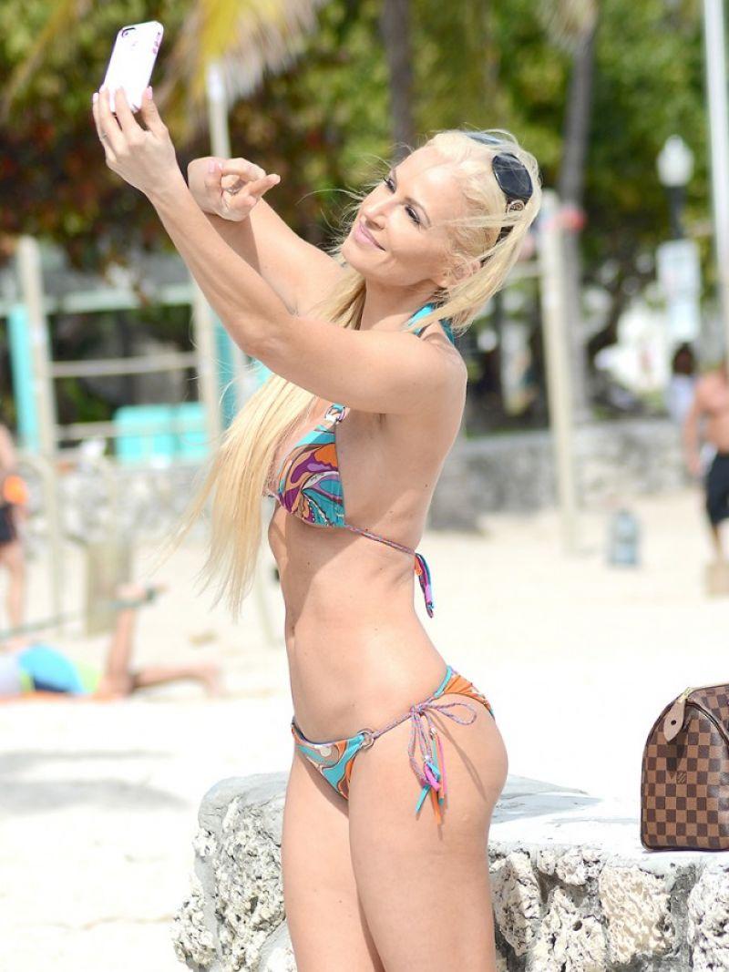 ANA BRAGA in Bikini at Model Beach Volley Ball in Miami
