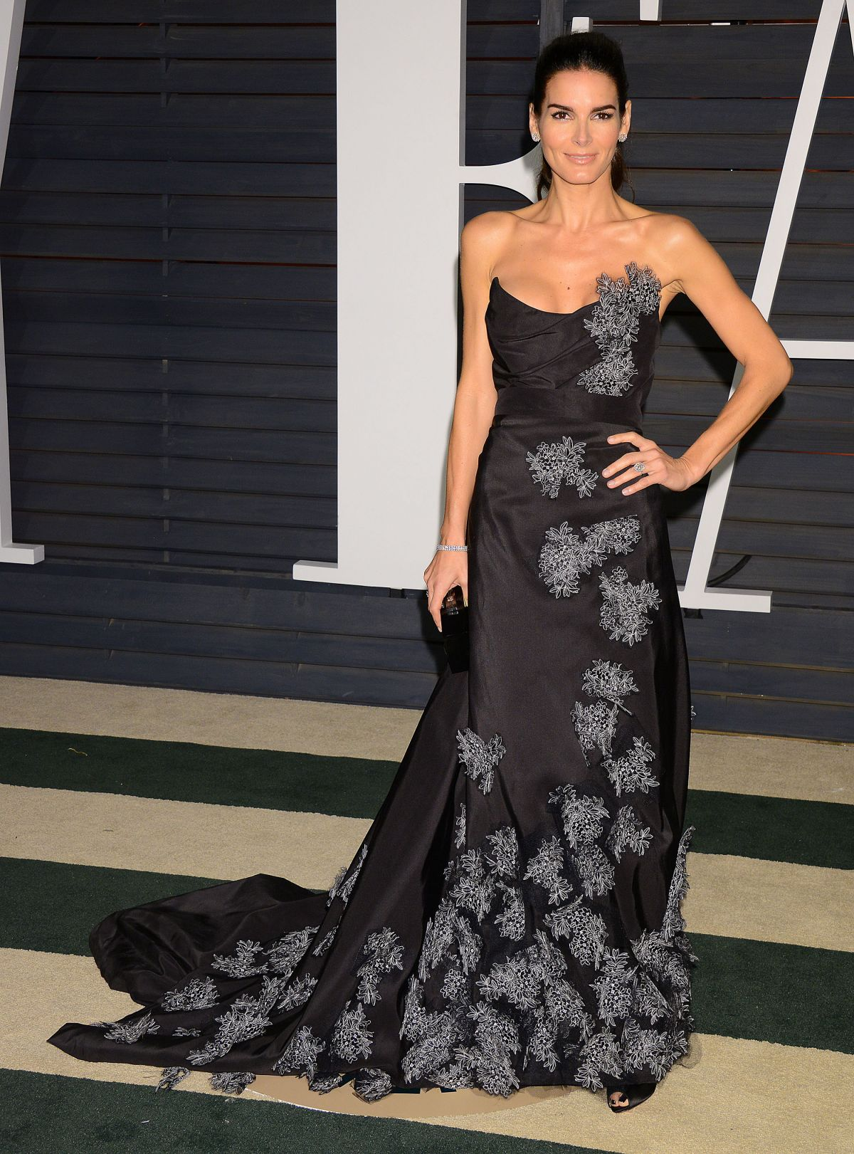 ANGIE HARMON at Vanity Fair Oscar Party in Hollywood