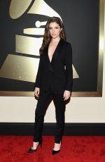 ANNA KENDRICK at 2015 Grammy Awards in Los Angeles