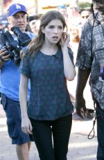 ANNA KENDRICK on the Set of Extra in West Hollywood 1101