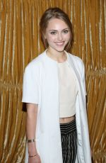 ANNSOPHIA ROBB at Alice + Olivia by Stacey Bendet Fashion Show in New York