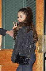 ARIANA GRANDE in Tight Jeans Out and About in New York