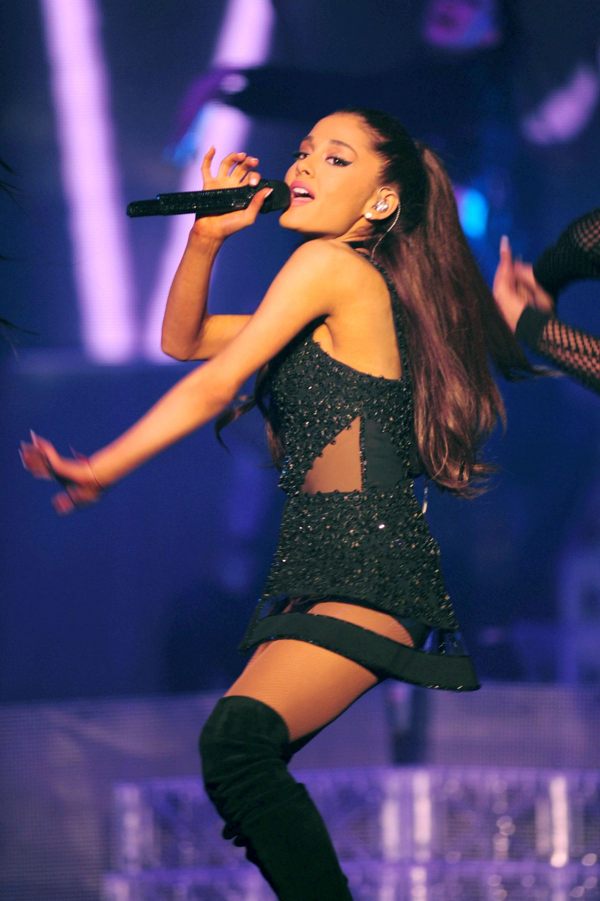 Ariana Grande Performs At Honeymoon Tour Opening Night In Kansas
