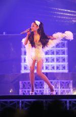 ARIANA GRANDE Performs at Honeymoon Tour Opening Night in Kansas City