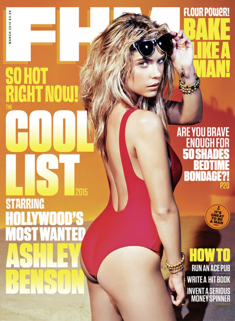 ASHLE BENSON in FHM Magazine, March 2015 Issue