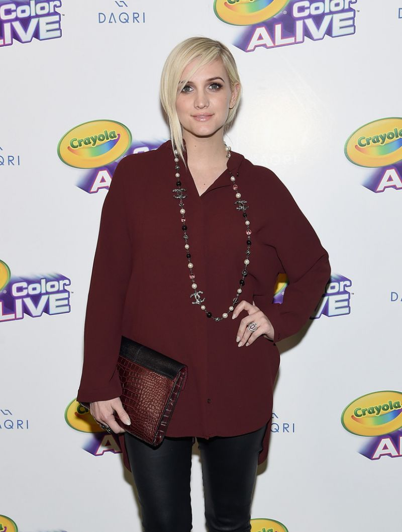 ASHLEE SIMPSON at Color Alive Launch Party in New York