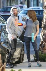 ASHLEY GREENE in Tights Out and About in West Hollywood 1002