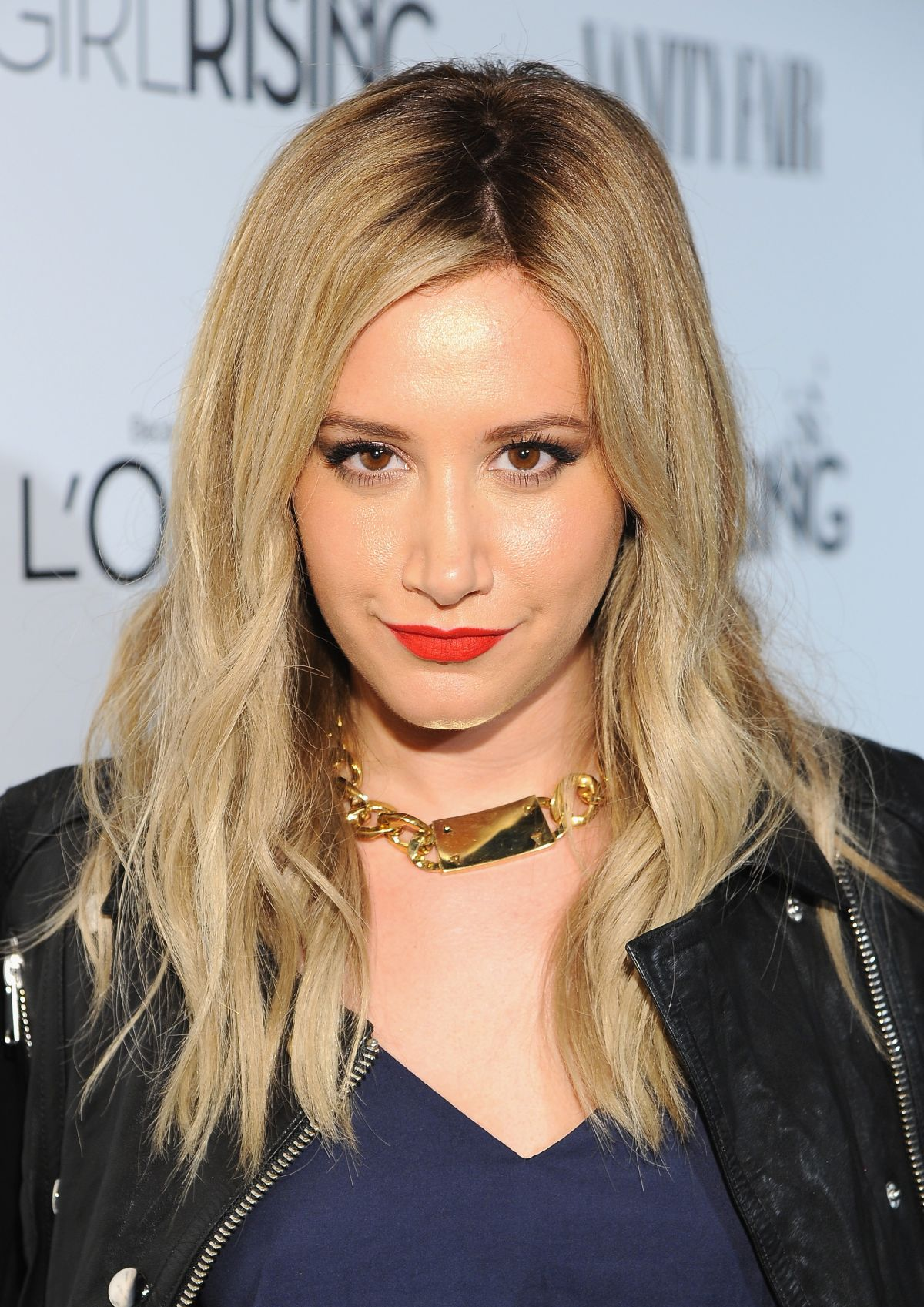 ASHLEY TISDALE at Vanity Fair and L'Oreal Paris D.J. Night Benefit in Los Angeles