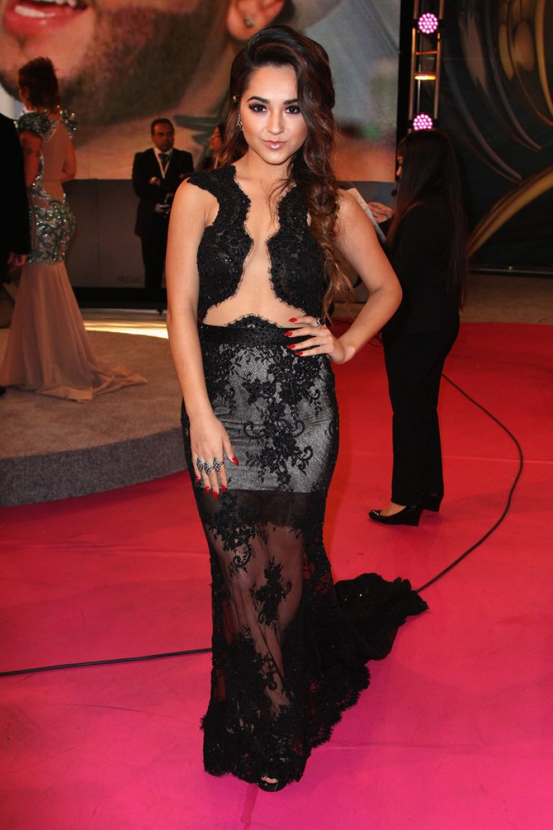 BECKY G THALIA at Premios Lo Nuestros Awards in Miami
