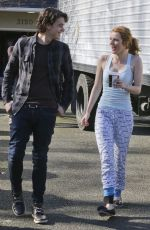 BELLA THORNE on the Set of Perfect High in Victoria