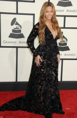 BEYONCE at 2015 Grammy Awards in Los Angeles