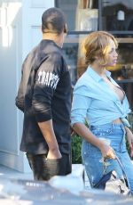 BEYONCE Leaves a Restaurant in Los Angeles