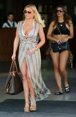 BILLIE FAIERS, FERNE MCCANN and LYDIA BRIGHT on Holiday in Tenerife