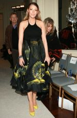 BLAKE LIVELY at Marchesa Fashion Show in new York